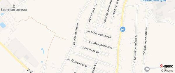 Клубничная улица на карте села Займища с номерами домов