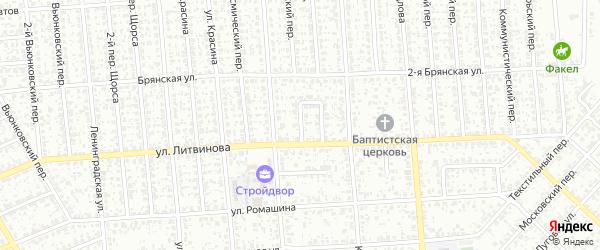 Северный проезд на карте Клинцов с номерами домов