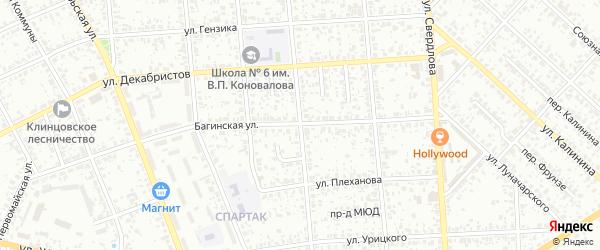Улица 8 Марта на карте Клинцов с номерами домов