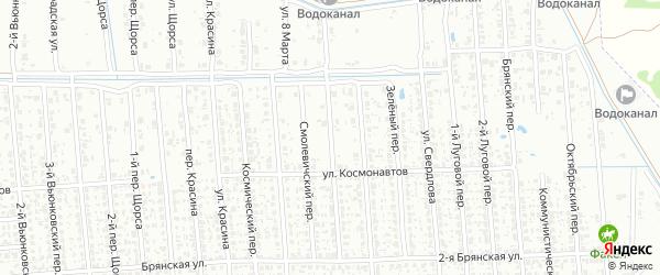 Спортивный переулок на карте Клинцов с номерами домов