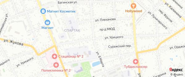 Улица Урицкого на карте Клинцов с номерами домов