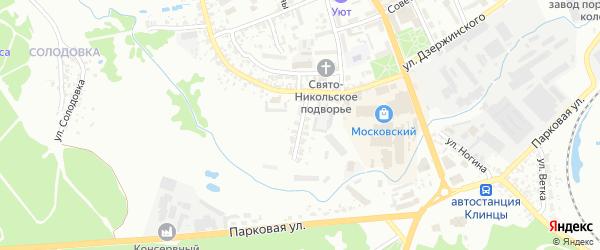 Улица Леонтьева на карте Клинцов с номерами домов