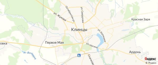 Карта Клинцов с районами, улицами и номерами домов
