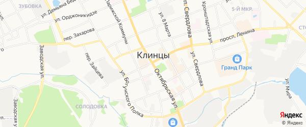 Территория Ворошилова ПК Текмаш-2 на карте Клинцов с номерами домов