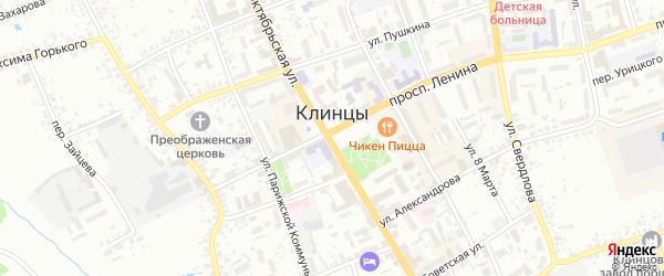 3-й Народный переулок на карте Клинцов с номерами домов