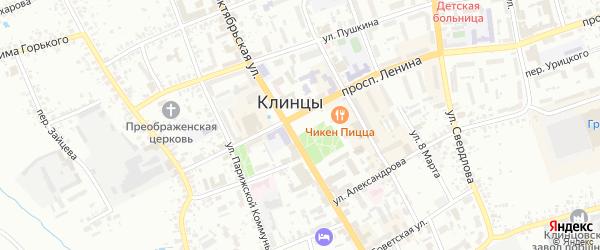 Ольховский переулок на карте Клинцов с номерами домов
