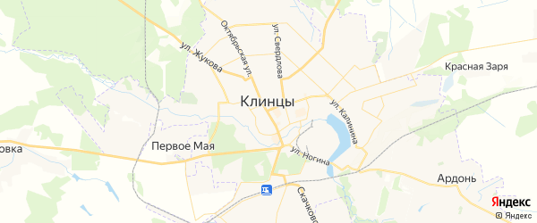 Карта Клинцов с районами, улицами и номерами домов: Клинцы на карте России