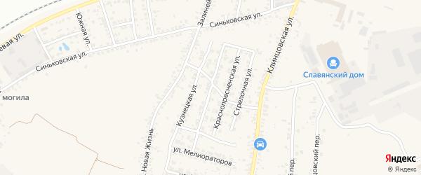 Каравайная улица на карте села Займища с номерами домов