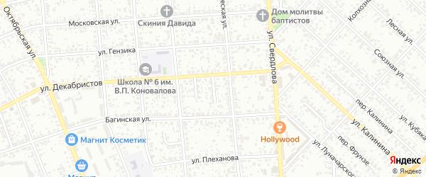 Проезд 1-й Декабристов на карте Клинцов с номерами домов