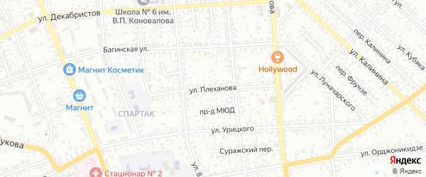 Улица Плеханова на карте Клинцов с номерами домов