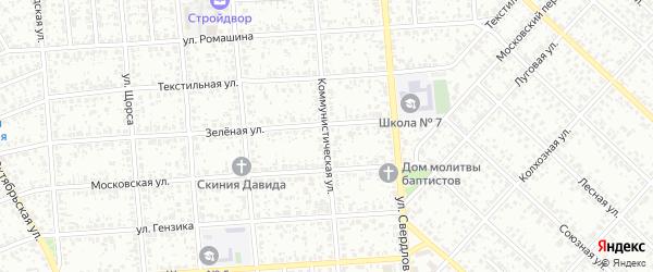 Коммунистическая улица на карте Клинцов с номерами домов