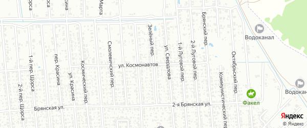 Зеленый переулок на карте Клинцов с номерами домов