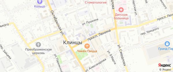 Кюстендилская улица на карте Клинцов с номерами домов