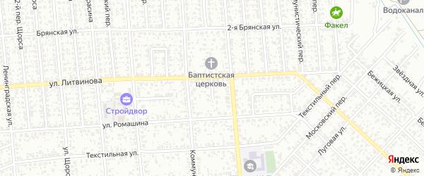 Северный переулок на карте Клинцов с номерами домов