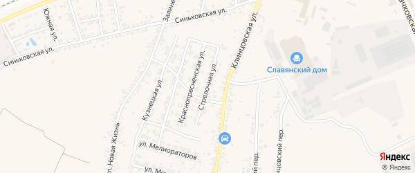 Стрелочная улица на карте села Займища с номерами домов