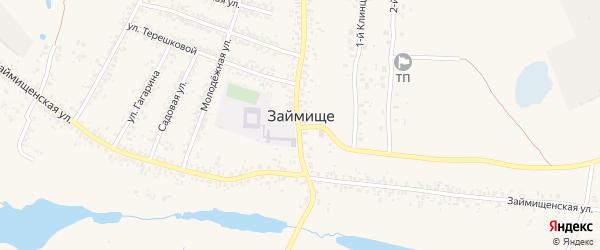 Синьковский переулок на карте села Займища с номерами домов
