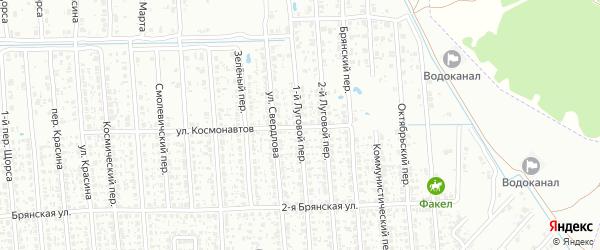 1-й Луговой переулок на карте Клинцов с номерами домов