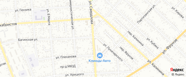 Улица Свердлова на карте Клинцов с номерами домов