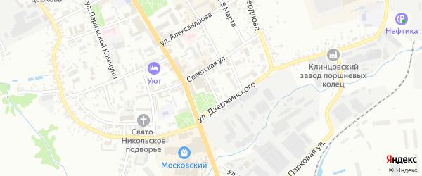 Улица Красная Площадь на карте Клинцов с номерами домов