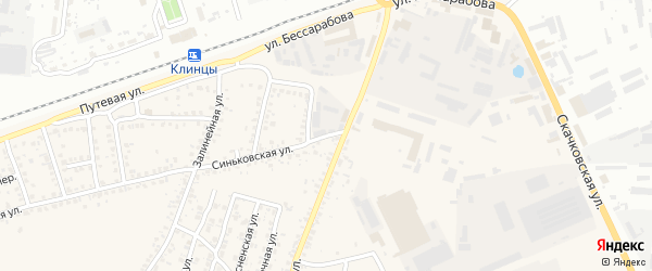 Клинцовский проезд на карте села Займища с номерами домов