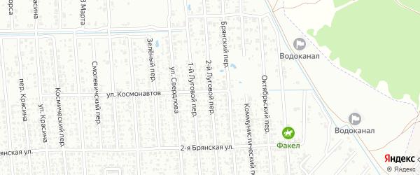 2-й Луговой переулок на карте Клинцов с номерами домов