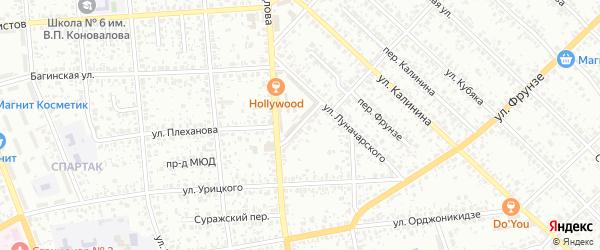 Улица Скопенко на карте Клинцов с номерами домов