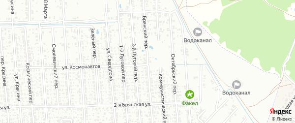 Брянский переулок на карте Клинцов с номерами домов