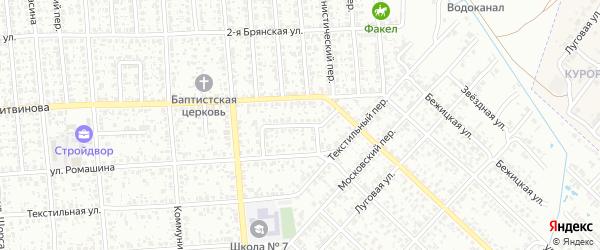 Вьюнковский проезд на карте Клинцов с номерами домов