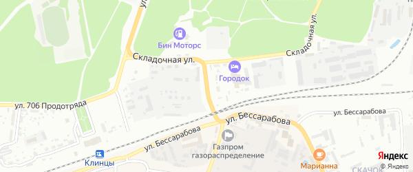 Займищенская улица на карте Клинцов с номерами домов