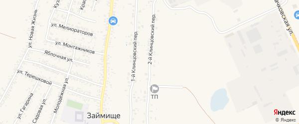 2-й Клинцовский переулок на карте села Займища с номерами домов
