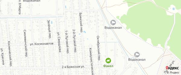 Коммунистический переулок на карте Клинцов с номерами домов