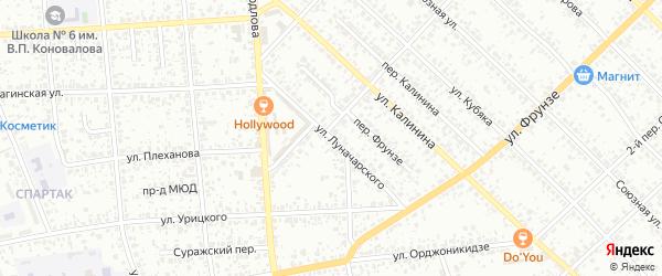 Улица Луначарского на карте Клинцов с номерами домов