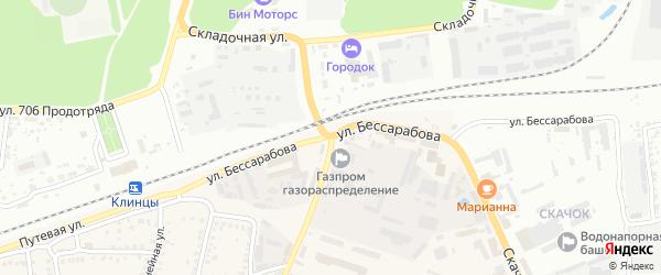 Улица Бессарабова на карте села Займища с номерами домов