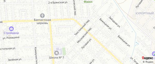 Текстильный переулок на карте Клинцов с номерами домов
