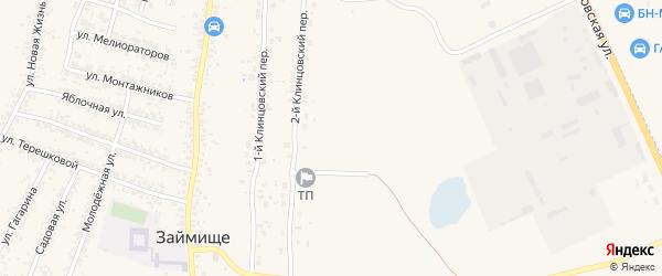 3-й Клинцовский переулок на карте села Займища с номерами домов