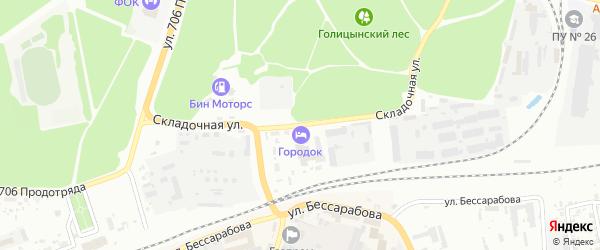 Складочная улица на карте Клинцов с номерами домов