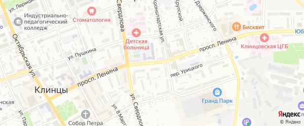 Проспект Ленина на карте Клинцов с номерами домов