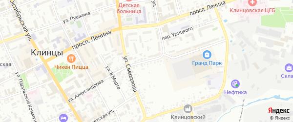 Улица Александрова на карте Клинцов с номерами домов