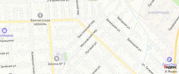 Московский переулок на карте Клинцов с номерами домов