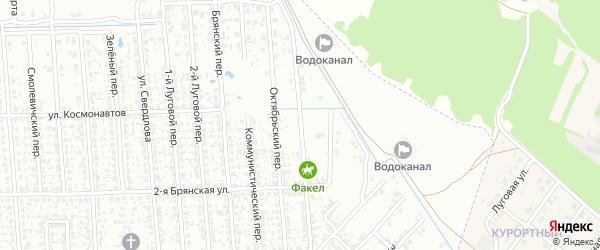 Переулок Молодогвардейцев на карте Клинцов с номерами домов
