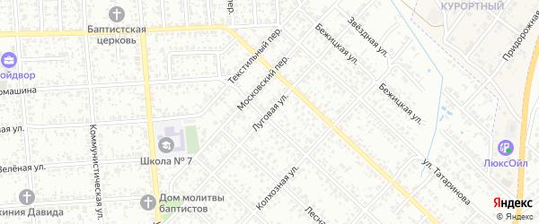 Луговая улица на карте Клинцов с номерами домов