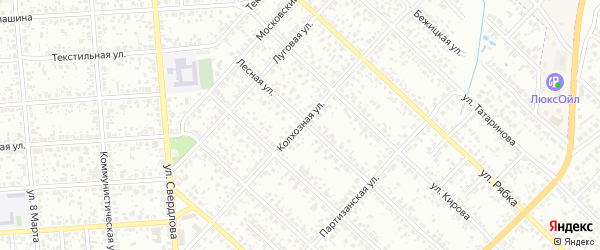 Колхозная улица на карте Клинцов с номерами домов