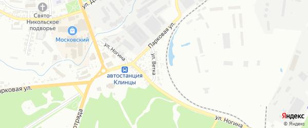 Улица Ветка на карте Клинцов с номерами домов