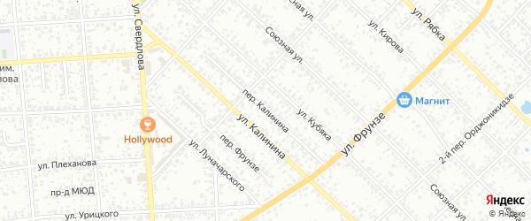Переулок Калинина на карте Клинцов с номерами домов
