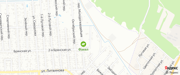 Переулок 1-й Молодогвардейцев на карте Клинцов с номерами домов