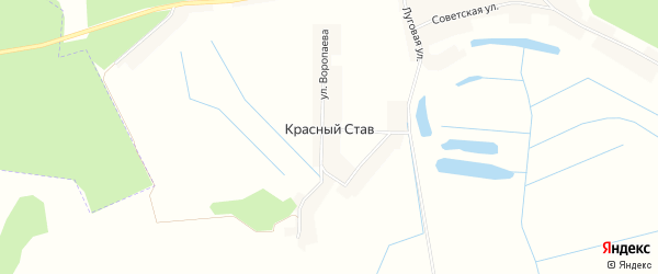 Карта поселка Красного Става в Брянской области с улицами и номерами домов