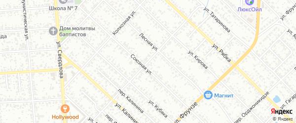 Партизанская улица на карте Клинцов с номерами домов