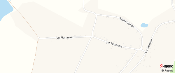 Улица Чапаева на карте села Сытой Буды с номерами домов