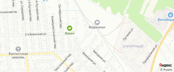 Переулок 2-й Молодогвардейцев на карте Клинцов с номерами домов