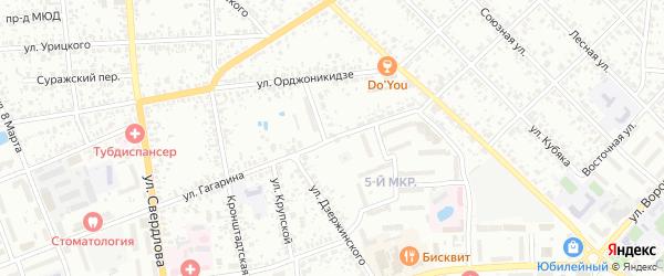 Улица Гагарина на карте Клинцов с номерами домов